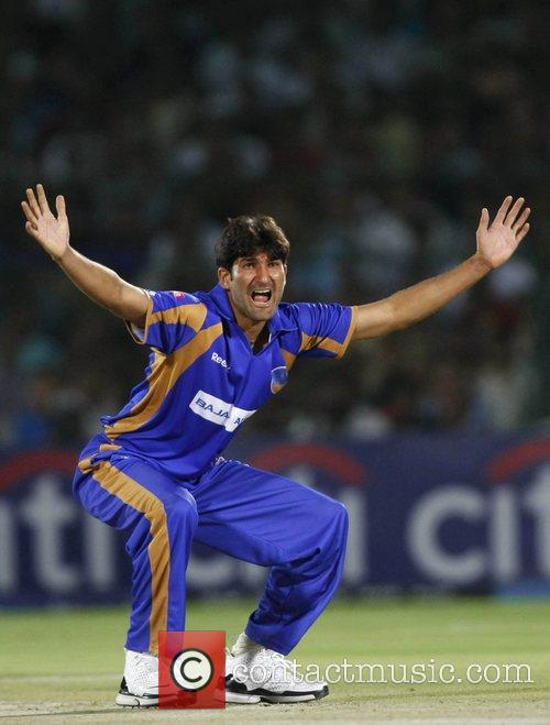 Sohail Tanvir Rajasthan Royals appeals during the match...