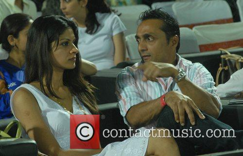 Bollywood actor Rahul Bose watch the games between...