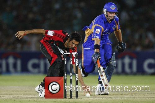 Pradeep Sangwan and Shane Watson  during the...