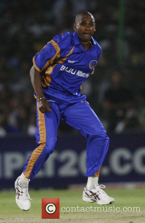 Rajasthan Royals Dimitri Mascarenhas  During the match...