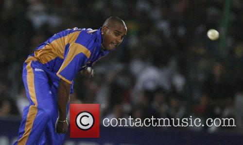 Rajasthan Royals Dimitri Mascarenhas  Bowls during the...