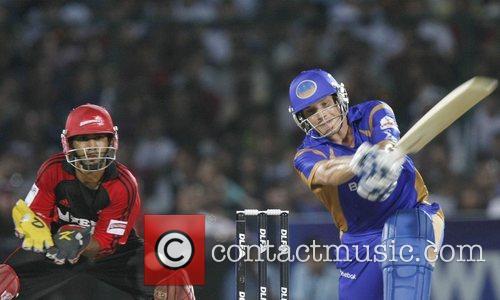 Shane Watson  Of the Rajasthan Royals plays...