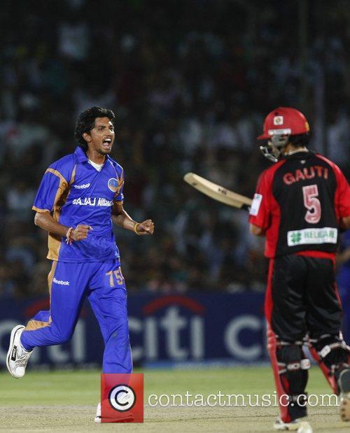 Siddharth Trivedi  Celebrates wicket of Delhi Daredevils...