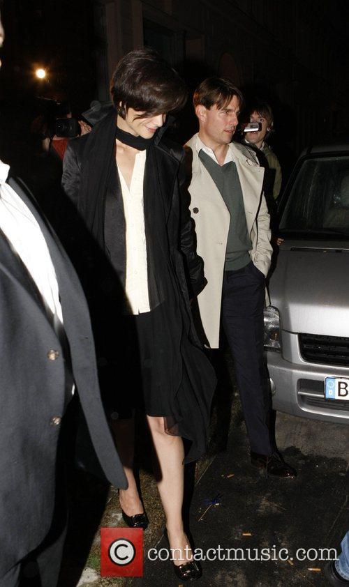 Tom Cruise, Katie Holmes leaving the Salumeria fior...