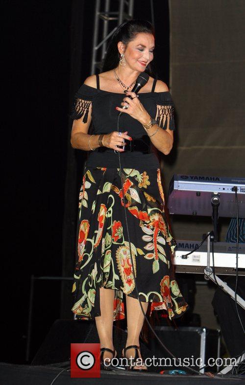 Crystal Gayle performing at The Poolside Concert Series...