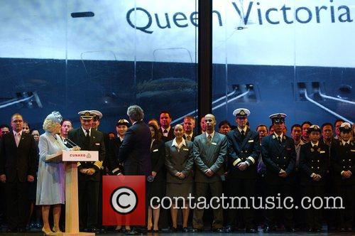 Camilla, Duchess of Cornwall  on stage at...