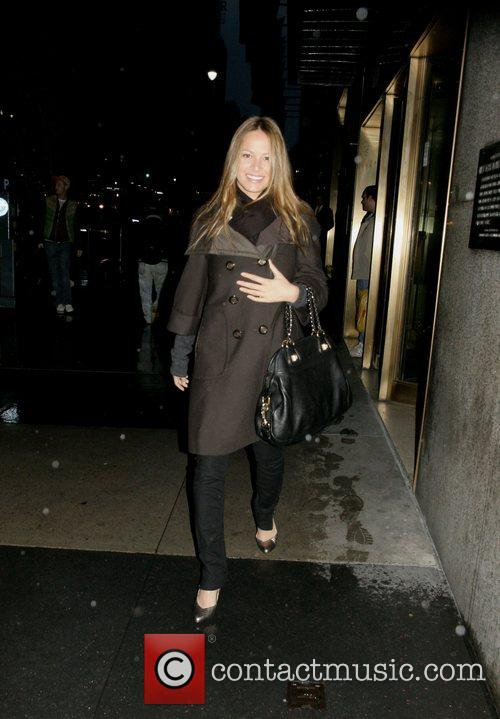 Moon Bloodgood outside CW11 studio after appearing on...