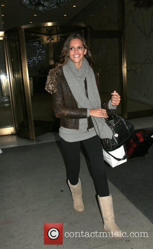Victoria Secret model Izabella Goulart outside CW11 studio...