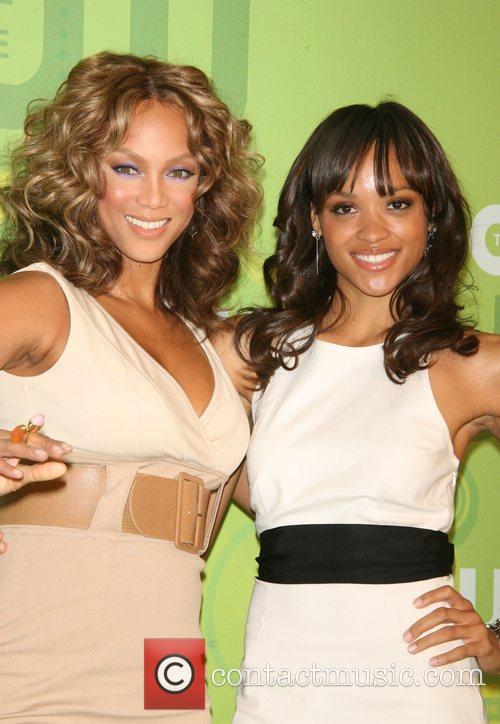 Tyra Banks and Saleisha Stowers CW Network 2008...