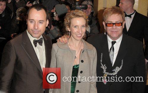 David Furnish, Sam Taylor-Wood and Sir Elton John...