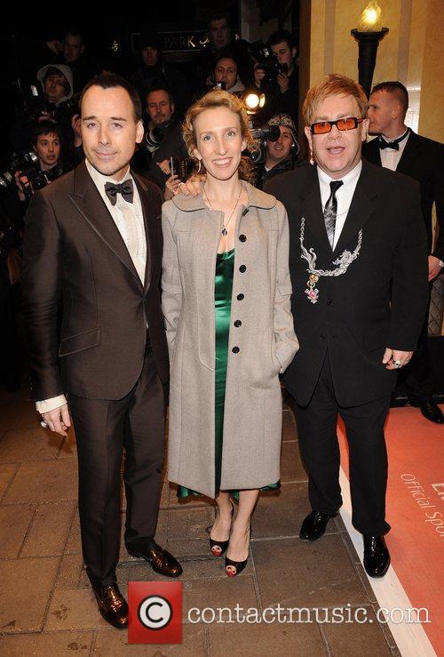 David Furnish, Sam Taylor Wood and Sir Elton...
