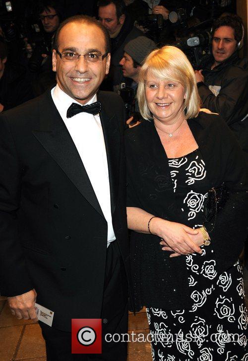 Theo Paphitis from the Drangon's Den and guest...