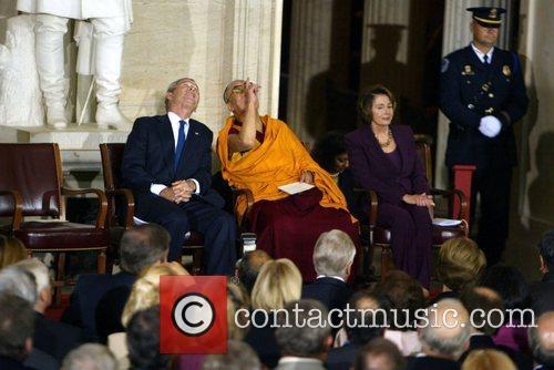 President George Bush, Dalai Lama and Speaker of...