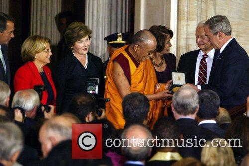 President George Bush, First Lady Laura, Dalai Lama,...