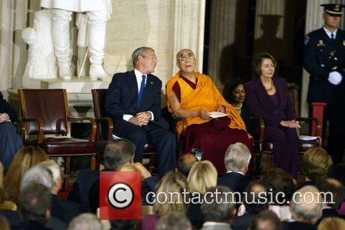 President George Bush, Dalai Lama, Speaker of the...