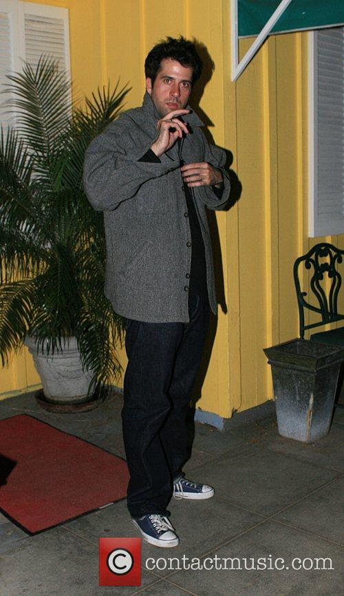 Troy Garity leaving Dan Tanas restaurant in West...