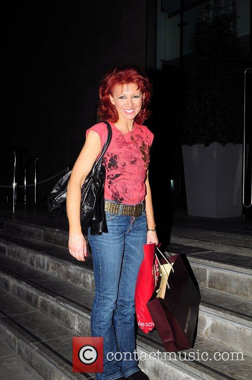 Bonnie Langford returning to the Lowery Hotel after...
