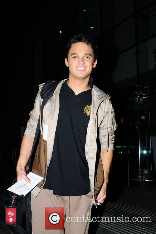 Gareth Gates returning to the Lowery Hotel after...