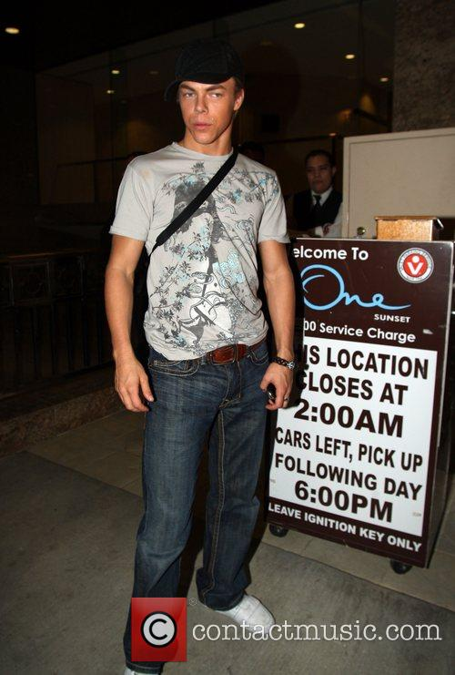 Outside the wrap party for the television show...