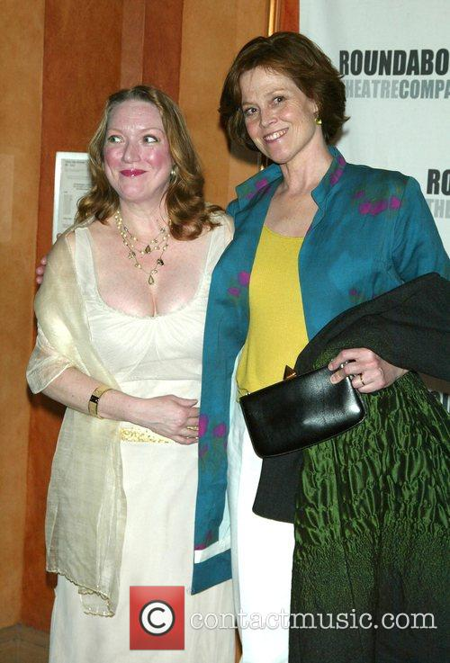 Kristine Nielsen and Sigourney Weaver Opening Night of...