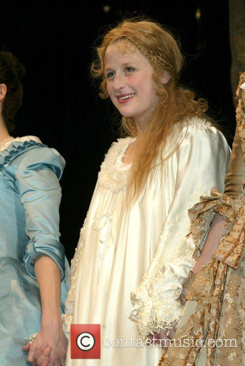 Mamie Gummer on stage during the curtain call...