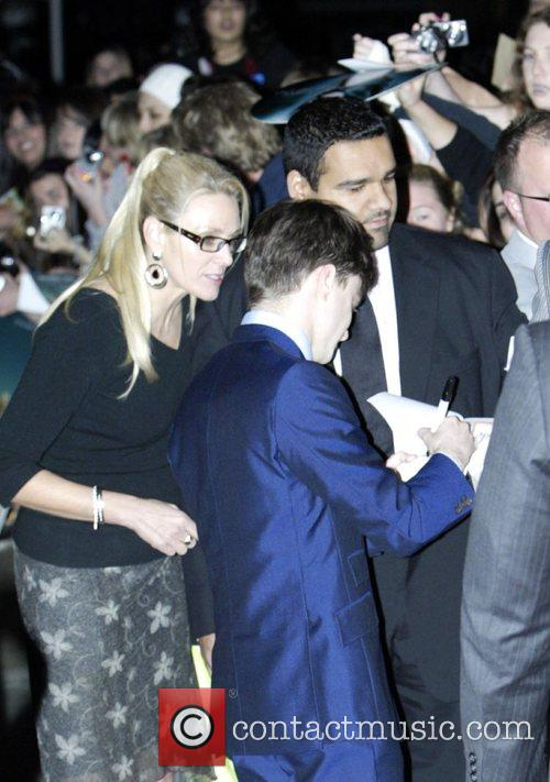 Daniel Radcliffe  signing autographs at the Australian...