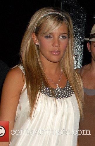 Danielle Lloyd leaving the Embassy Club London, England