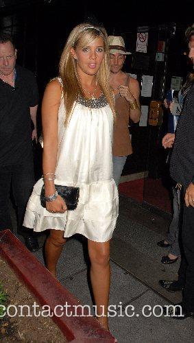 Danielle Lloyd leaving the Embassy Club