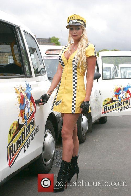 Danielle Lloyd poses for a Rustlers promo shoot...