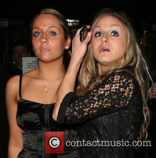 Nikki Grahame and a friend at the Embassy...