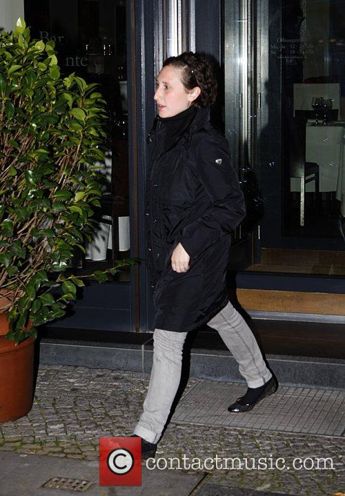 Grace DeVito leaving Bocca di Bacco restaurant after...