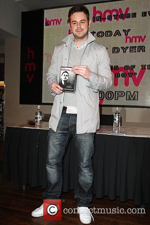 Danny Dyer signs copies of Borstal Boy at...
