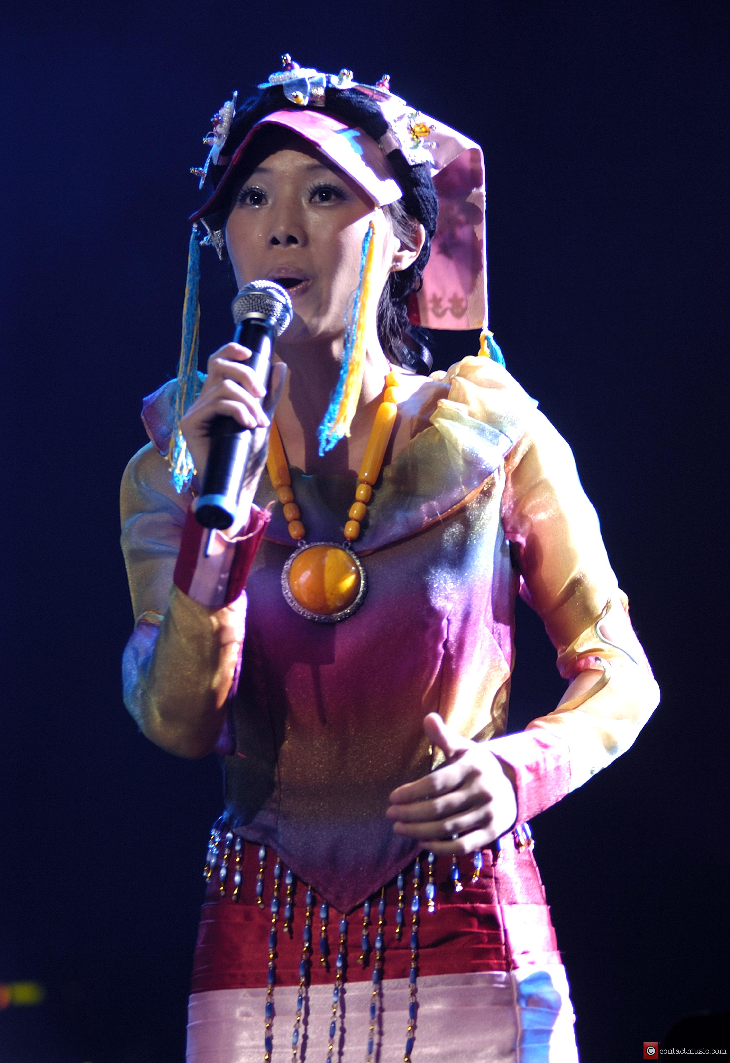 Singer Can Huang from China, performing live in...