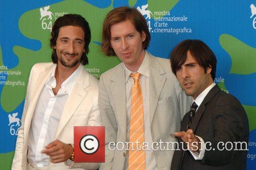Adrien Brody, Jason Schwartzman and Wes Anderson