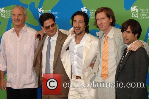 Bill Murray, Adrien Brody, Jason Schwartzman and Wes Anderson 7