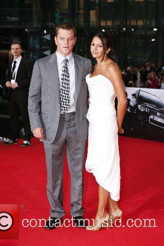 Luciana Barroso and Matt Damon 3