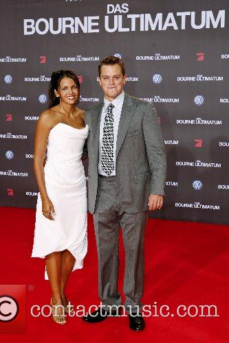 Luciana Barroso and Matt Damon 1