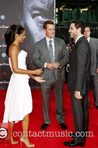 Matt Damon, Luciana Barroso, Edgar Ramirez German premiere...