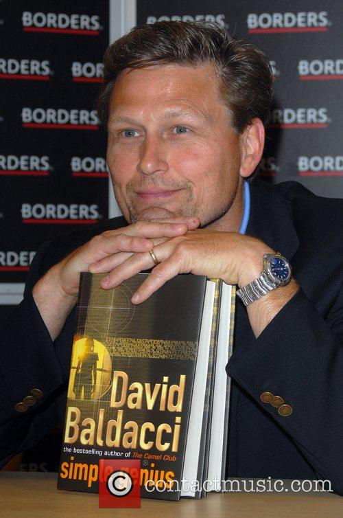 David Baldacci signs copies of his new book...