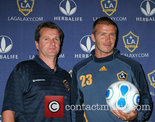 David Beckham and Frank Yallop Los Angeles Galaxy...