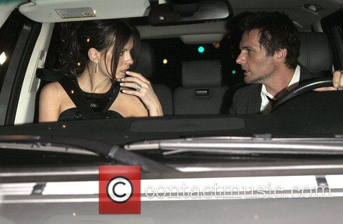 Kate Beckinsale with husband Len Wiseman Arriving at...