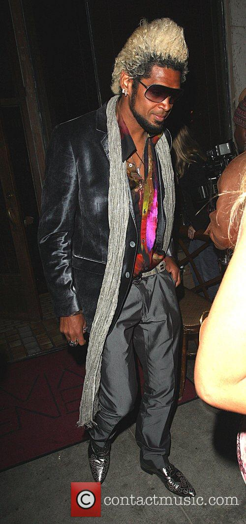 Abel Xavier leaving a party thrown by the...