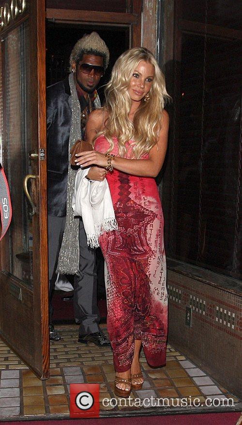 Abel Xavier with female friend leaving a party...
