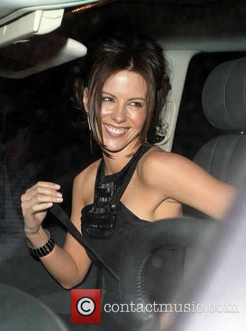 Leaving a party thrown by the Beckhams at...