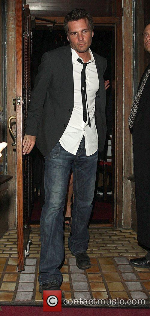 Len Wiseman leaving a party thrown by the...