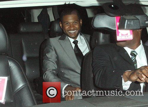 Usher leaving a party thrown by the Beckhams...