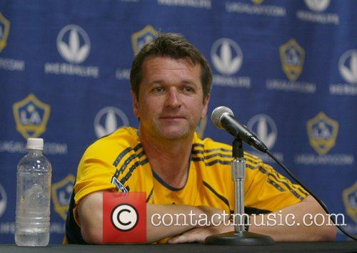 Los Angeles Galaxy coach Frank Yallop attends at...