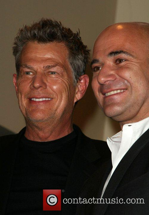 David Foster and Andre Agassi Press Conference for...
