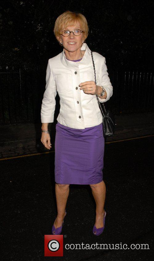 Anne Robinson,  arrives at Sir David Frosts...
