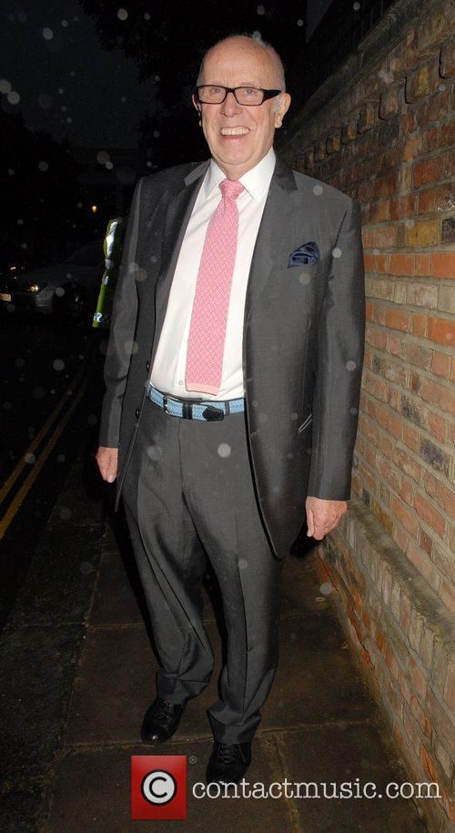 Richard Wilson,  arrives at Sir David Frosts...
